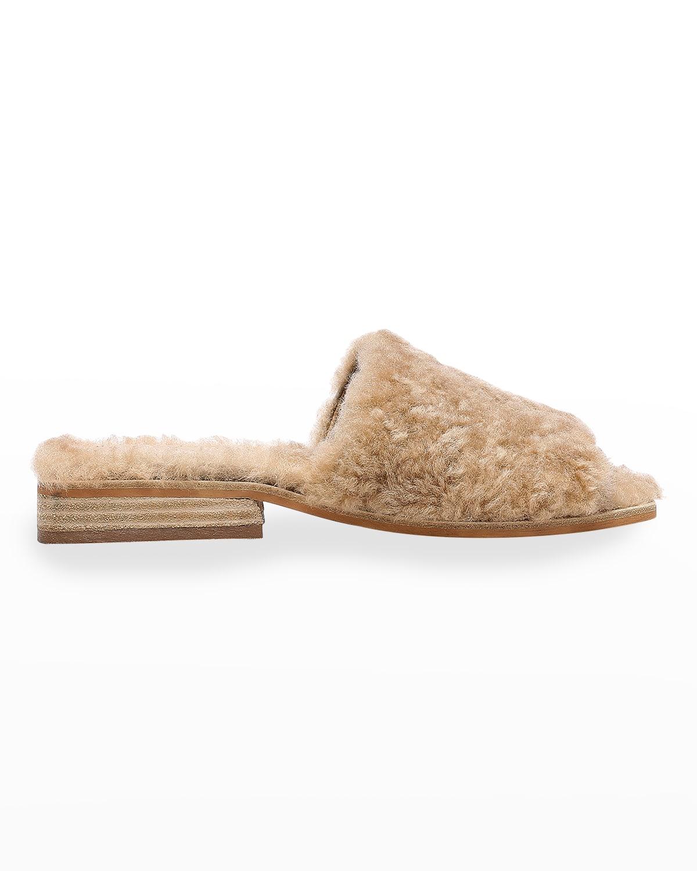 Leslie Shearling Flat Sandals