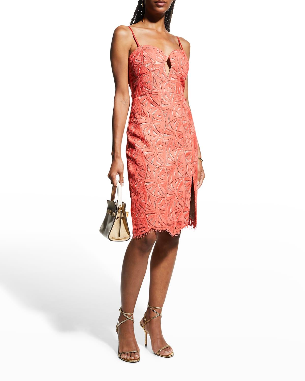 Spaghetti-Strap Lace Sheath Dress