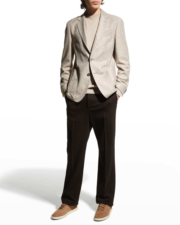 Men's Melange Jersey Sport Coat