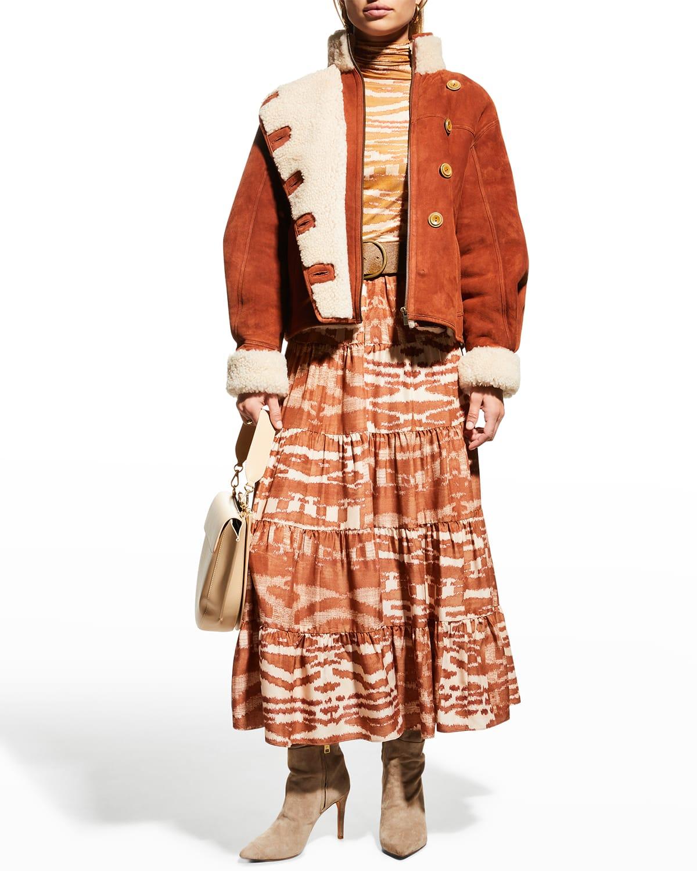 Aisa Midi Silk Skirt