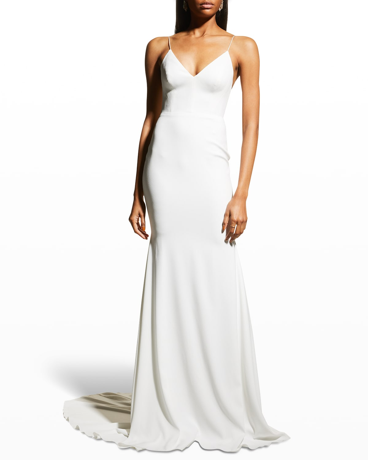 Luce Crepe Trumpet Gown