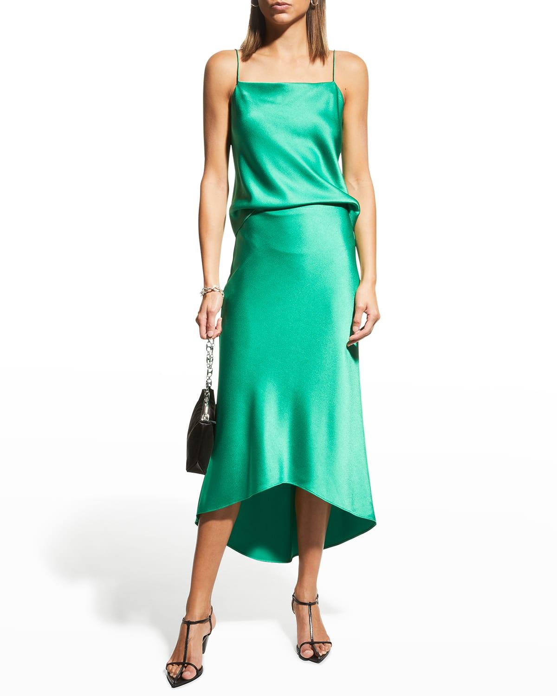 Maeve High-Low Slip Skirt