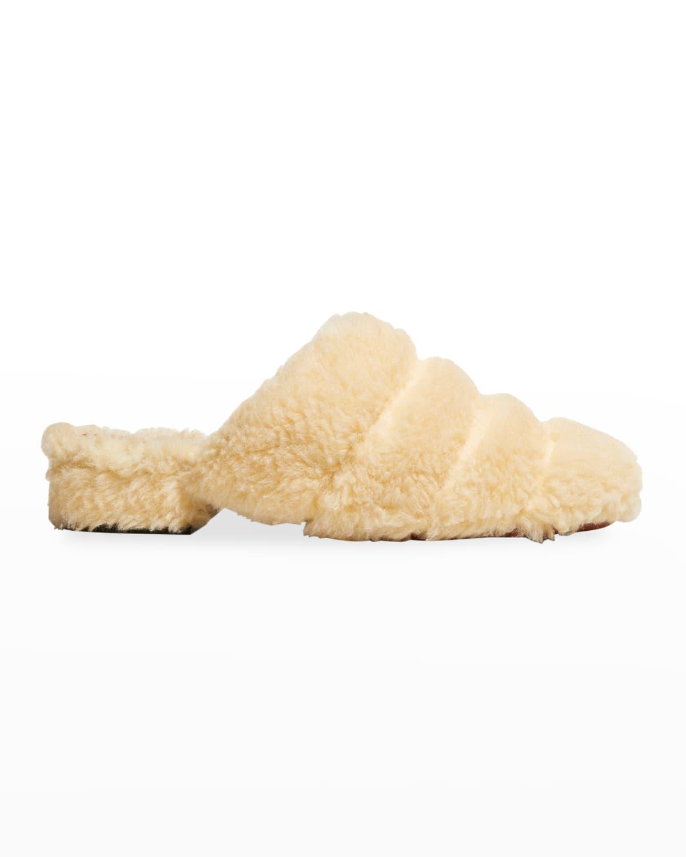 Faux Shearling Slide Mule Slippers