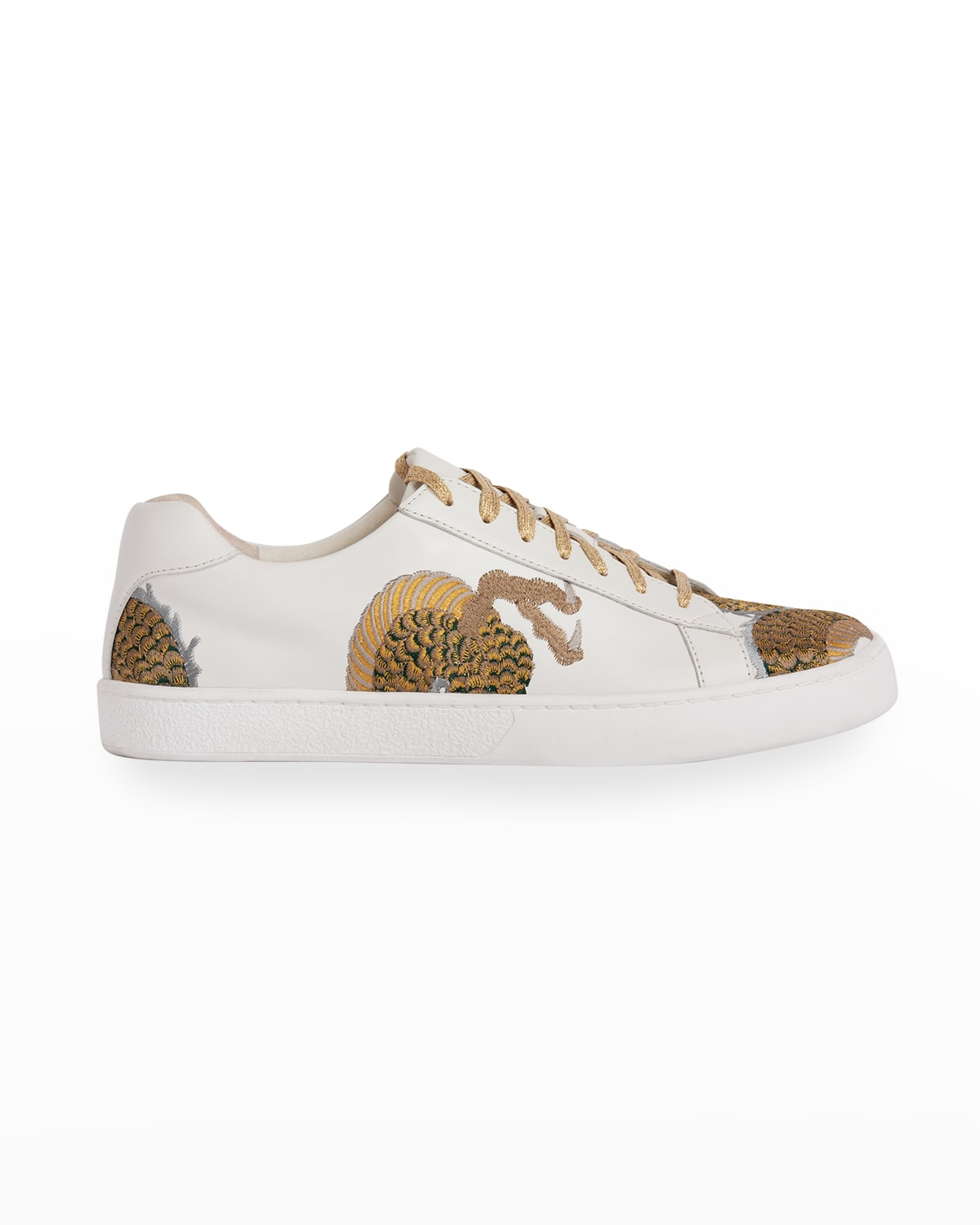 Dragon-Embroidered Fashion Low-Top Sneakers