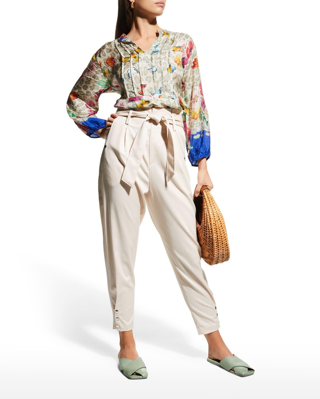Khalani May Flower Long-Sleeve Tunic