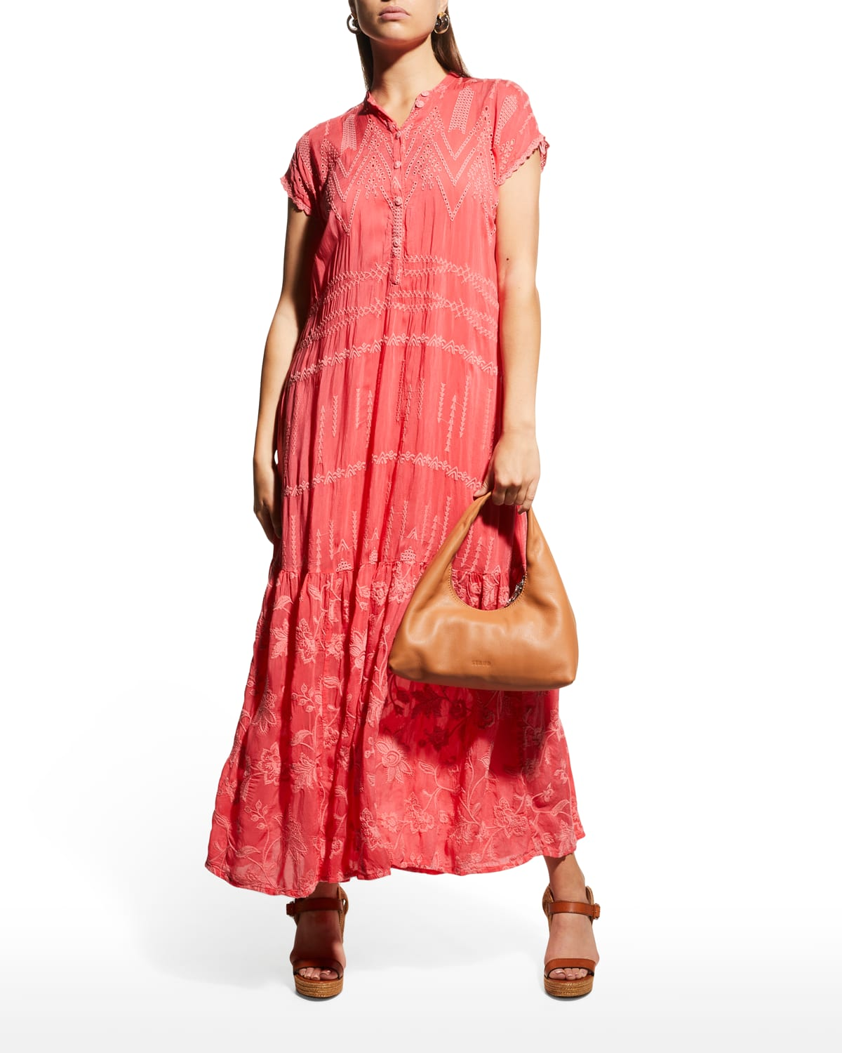 Aria Paityn Embroidered Maxi Dress