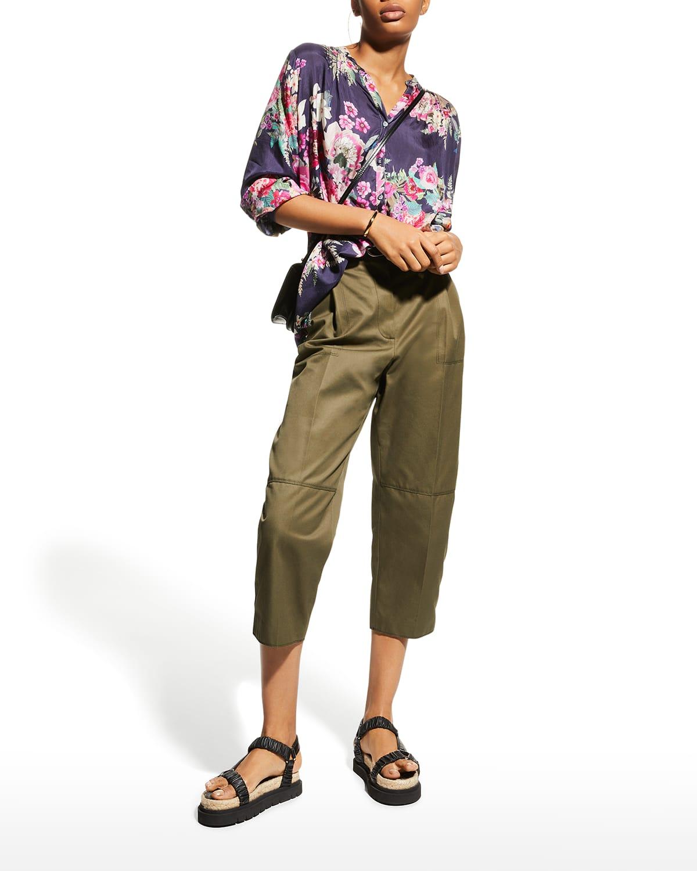 Blair Floral Silk Habutai Tunic