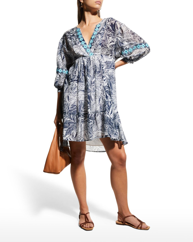 Malika Butterfly-Print Dress