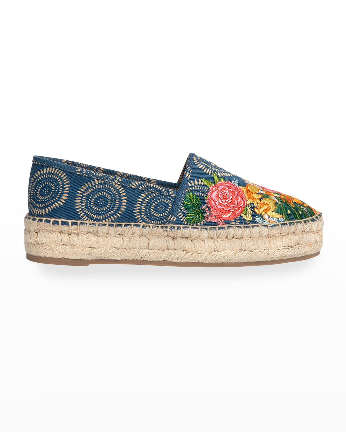 Anenome Embroidered Floral Espadrilles