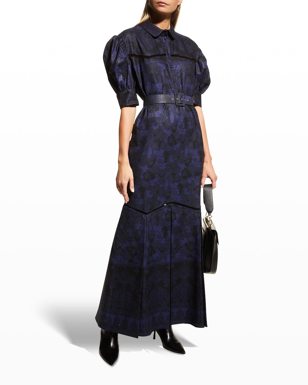 Teodosia Puff-Sleeve Maxi Dress