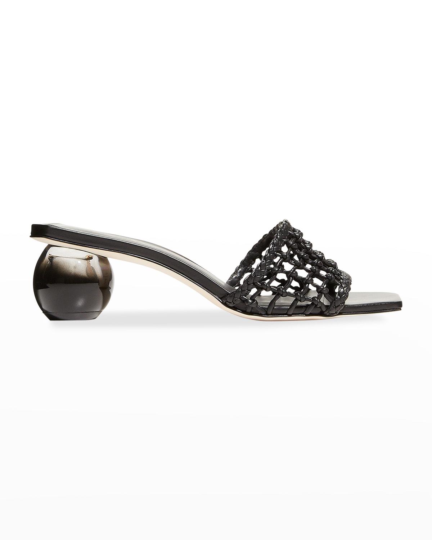 Tao Net Leather Slide Sandals