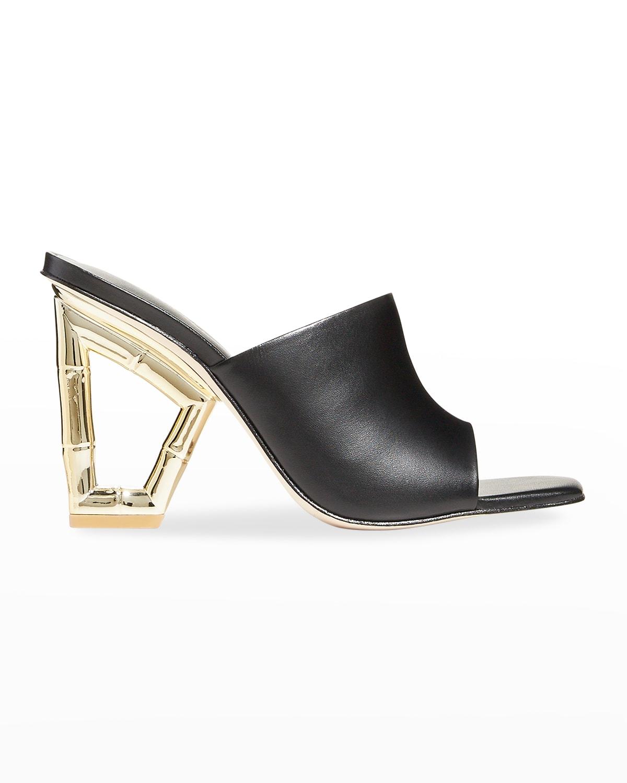 Astraea Metallic-Heel Mule Sandals