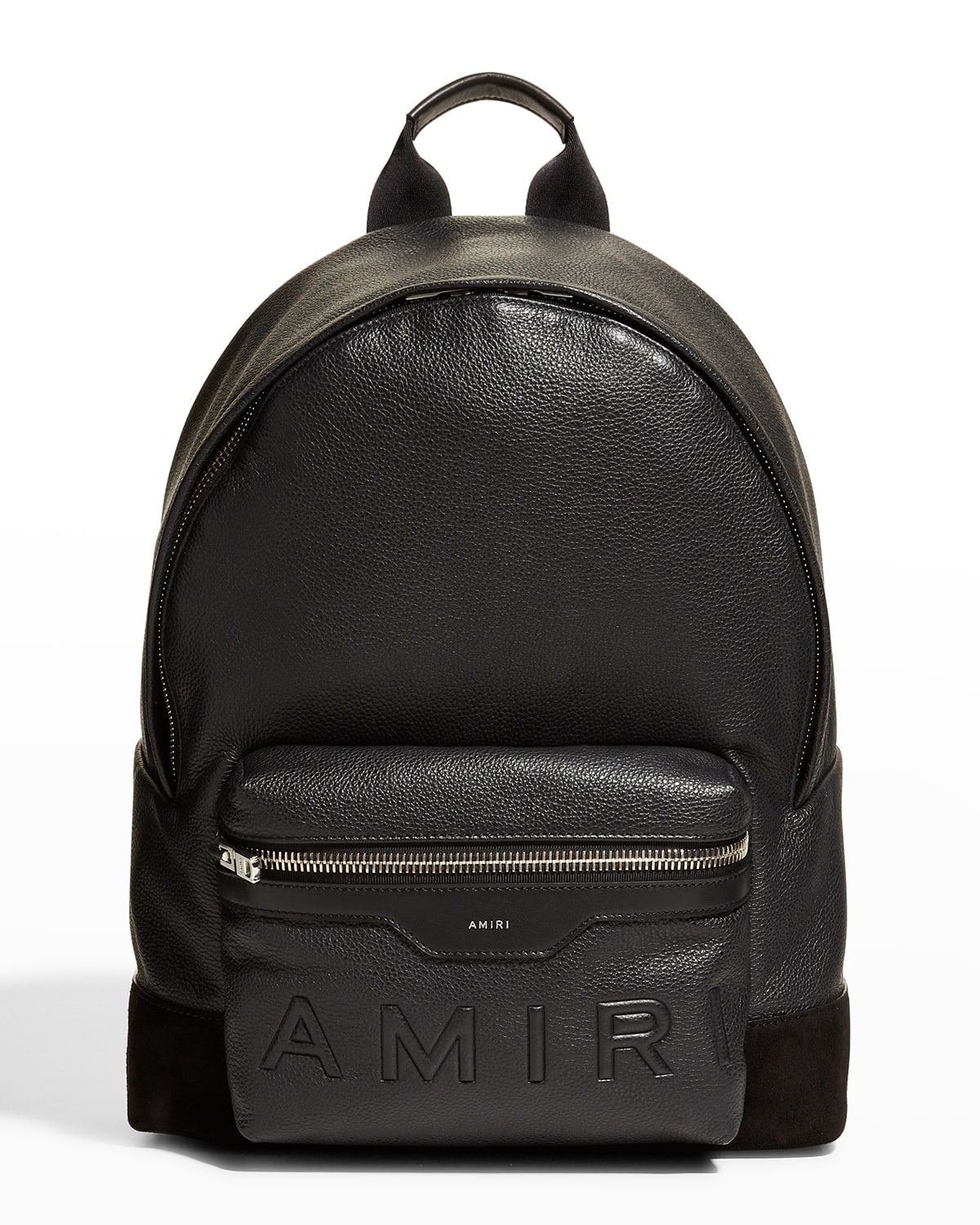 Men's Embossed Leather Backpack