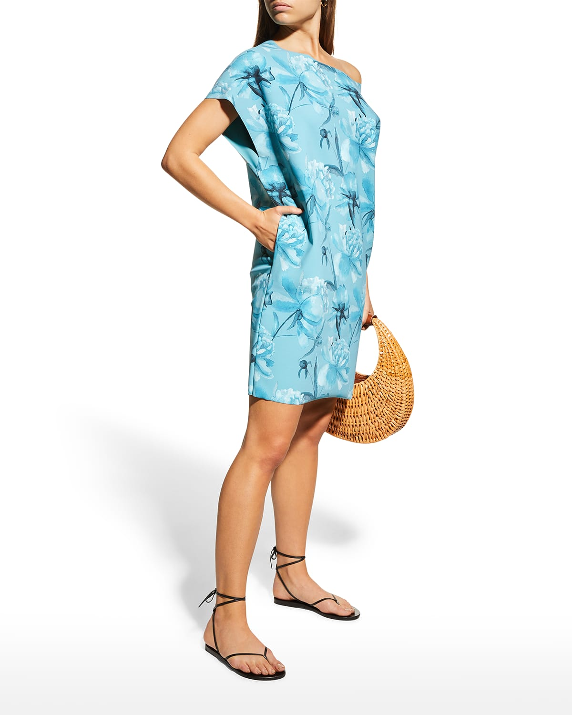 Saber Floral-Print Shift Dress