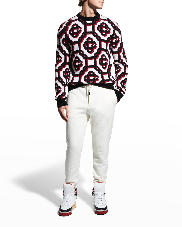 Men's 3D Monogram Sweater