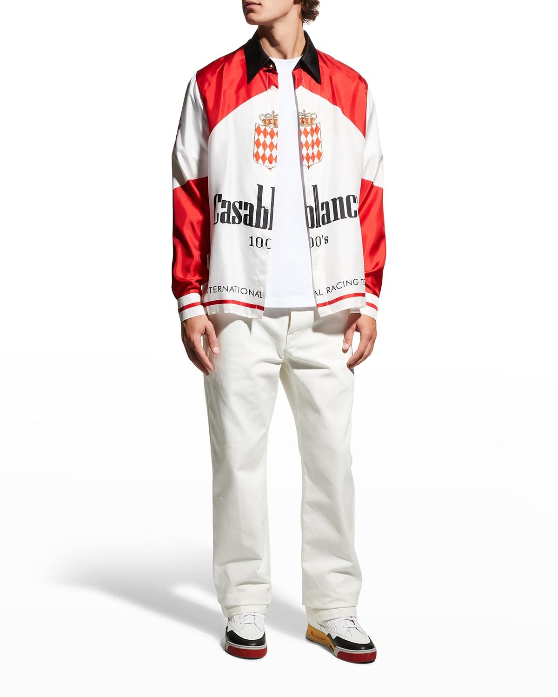 Men's 100s Graphic Silk Sport Shirt
