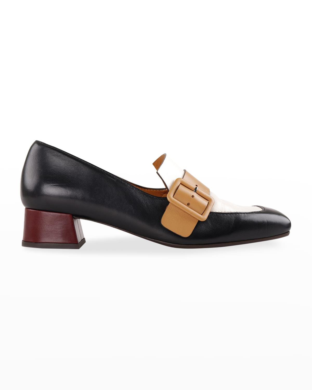 Reva Colorblock Buckle Loafers