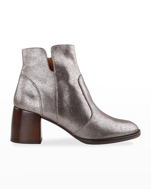 Ohara Metallic Ankle Booties