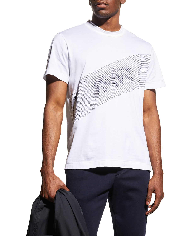 Men's Diagonal 3D Logo T-Shirt