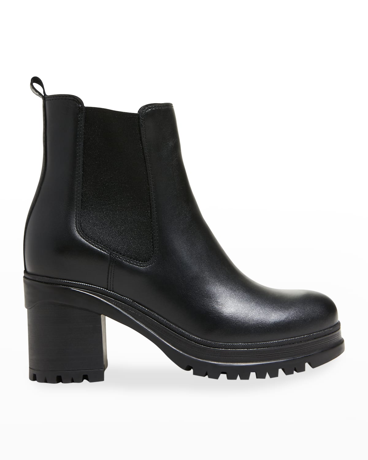 Paxton Leather Lug-Sole Chelsea Booties