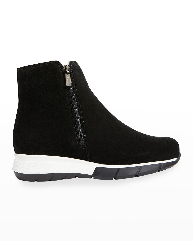 Nikola Suede Shearling Sneaker Booties