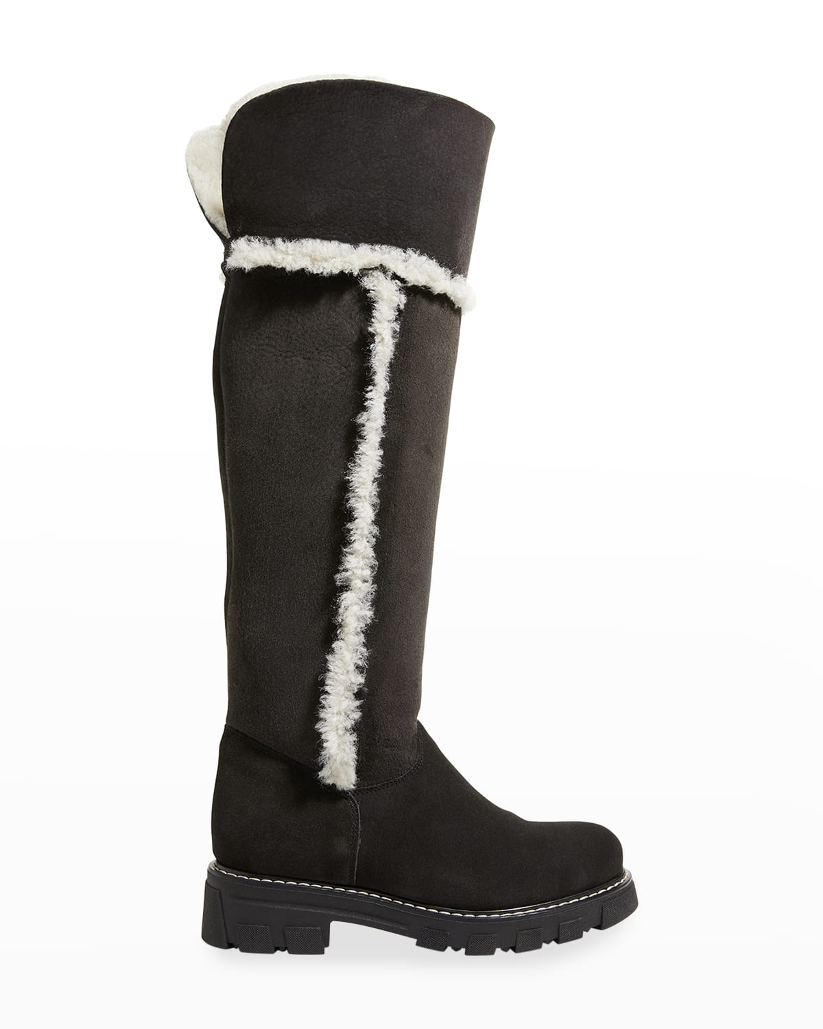 Tamyl Suede Shearling Knee Boots