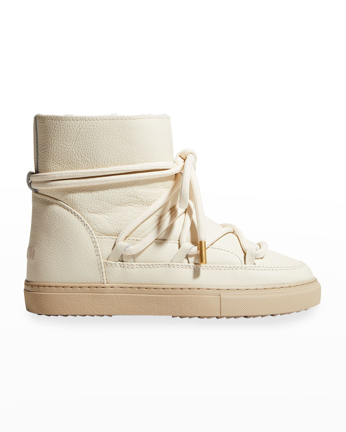 Classic Leather Shearling Snow Booties