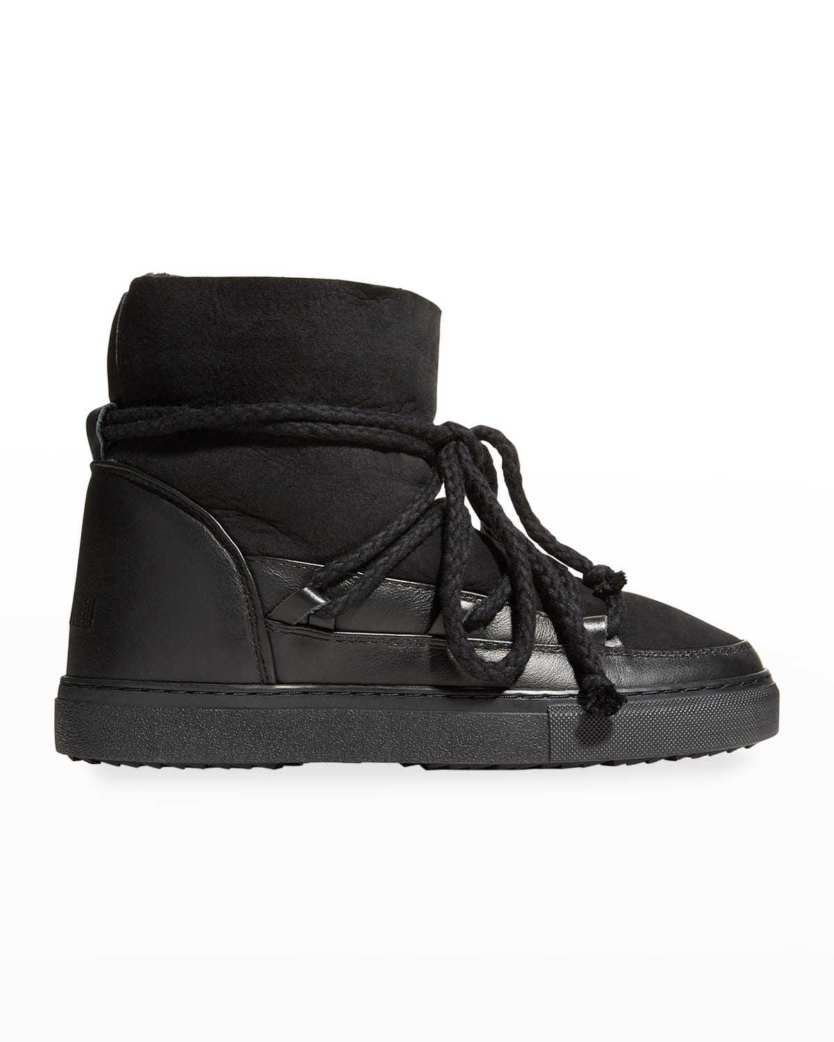 Classic Mixed Leather Shearling Snow Booties