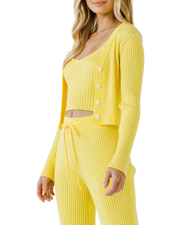 Cropped Lounge Knit Cardigan