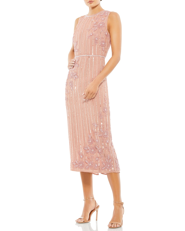 Novelty Sequin Sleeveless Midi Dress