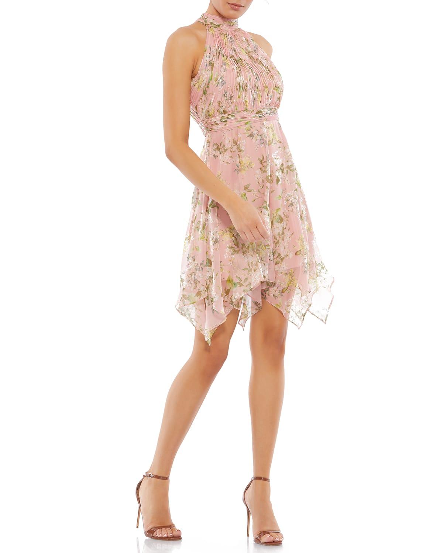Pixie Floral High-Neck Dress