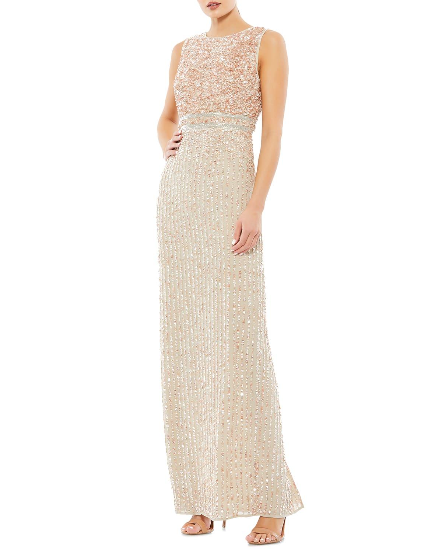 Sequin Sleeveless Column Gown