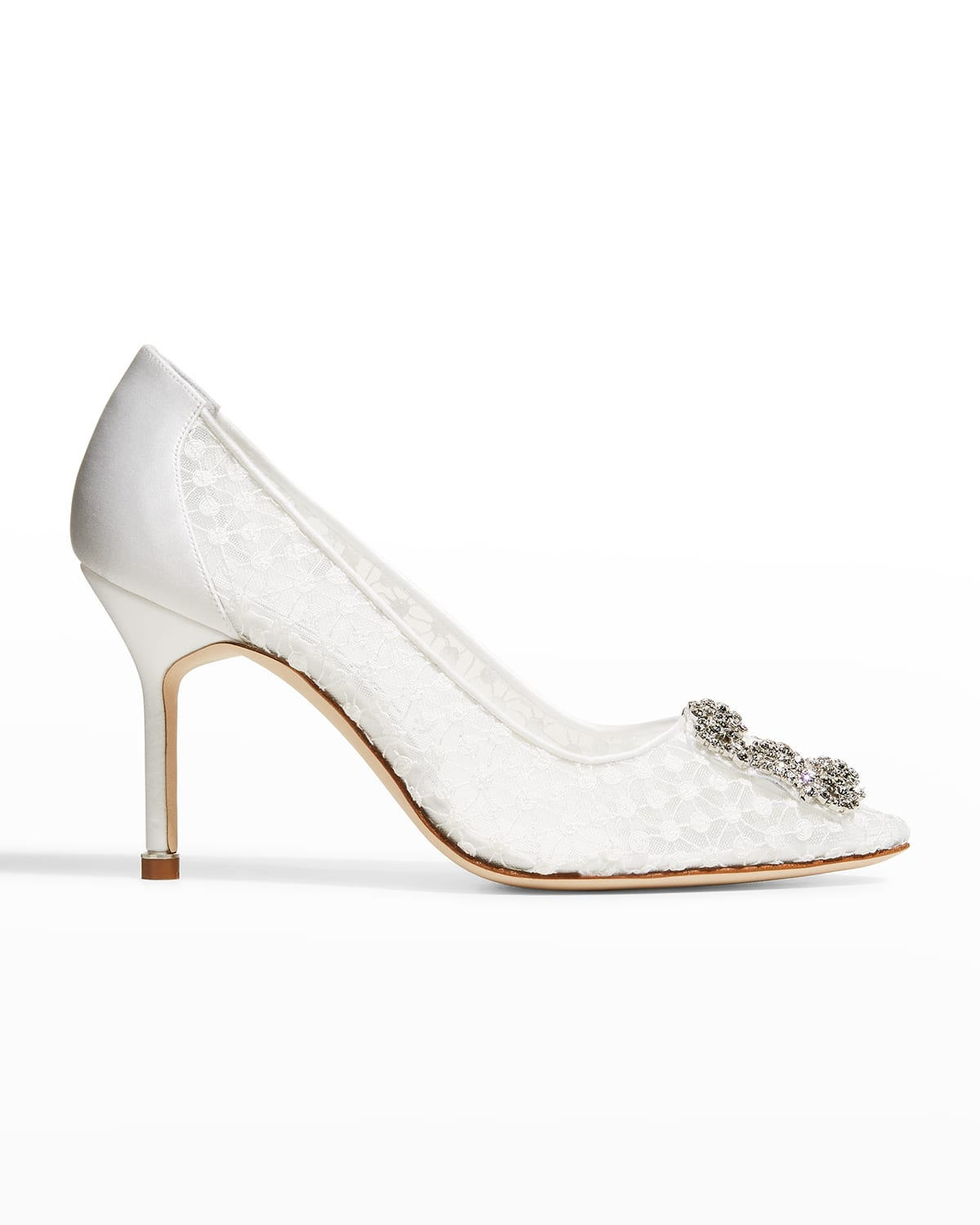 Hangisi Embroidered Crystal-Buckle Pumps