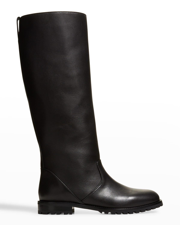 Motosahi Tall Lug-Sole Leather Boots