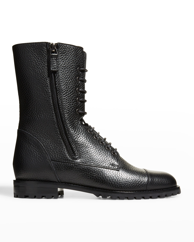 Lugata Calfskin Dual-Zip Combat Boots