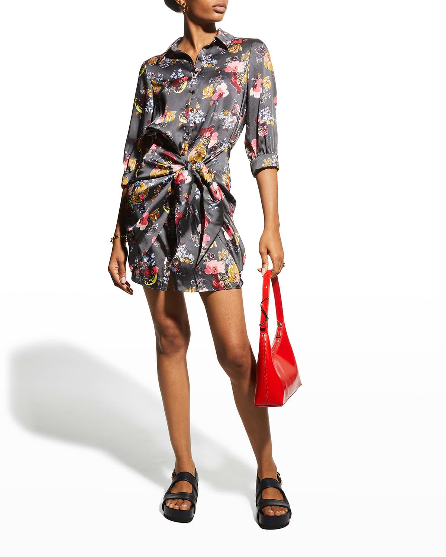 Gaby 3/4-Sleeve Mini Shirtdress