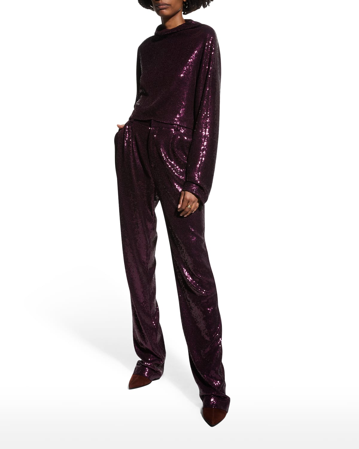 Sequin Tailored Trousers