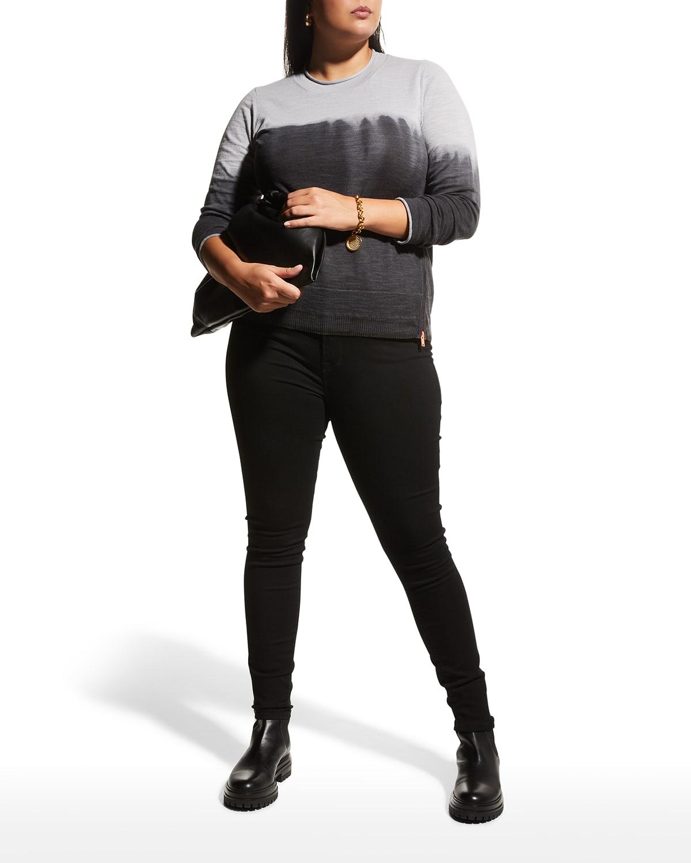 Plus Size In A Zip Dip-Dye Sweater
