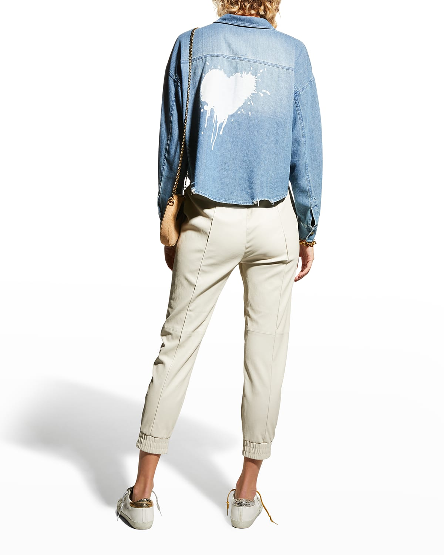 It's Complicated Button-Down Shirt w/ Heart