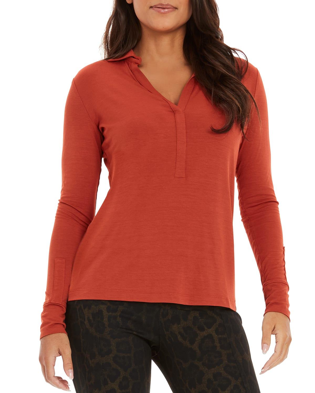 Elsa Long-Sleeve Jersey Top