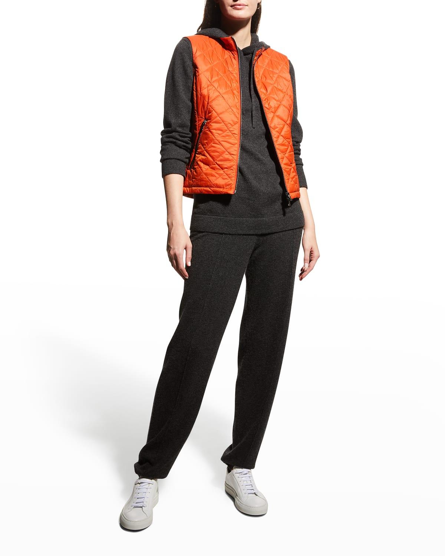 Jodie Zip-Front Puffer Vest