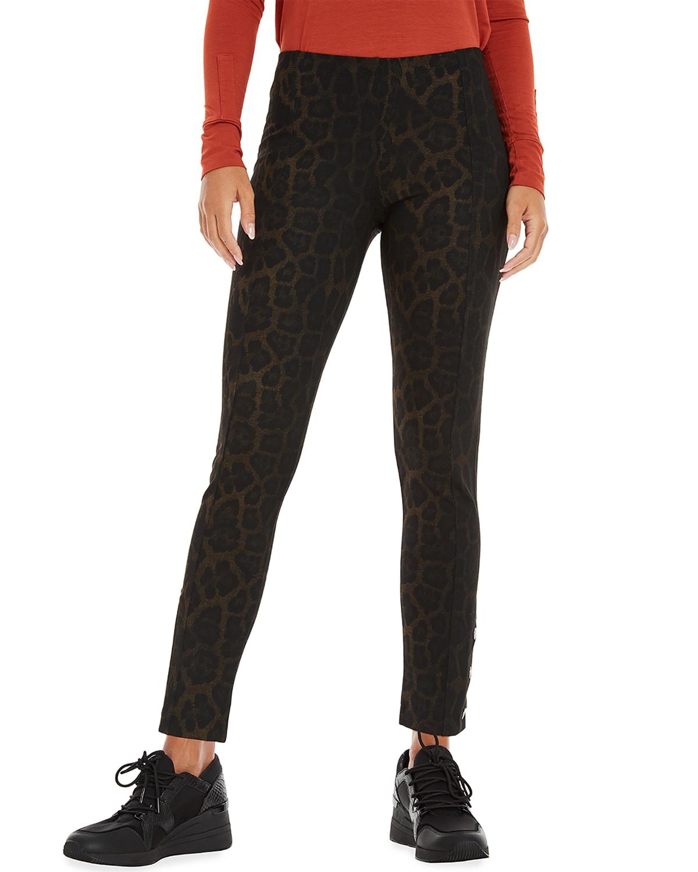 Aida Cheetah-Print Ankle Pants