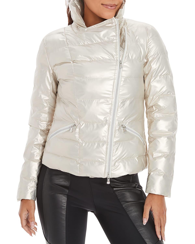Judi Zip-Front Puffer Jacket