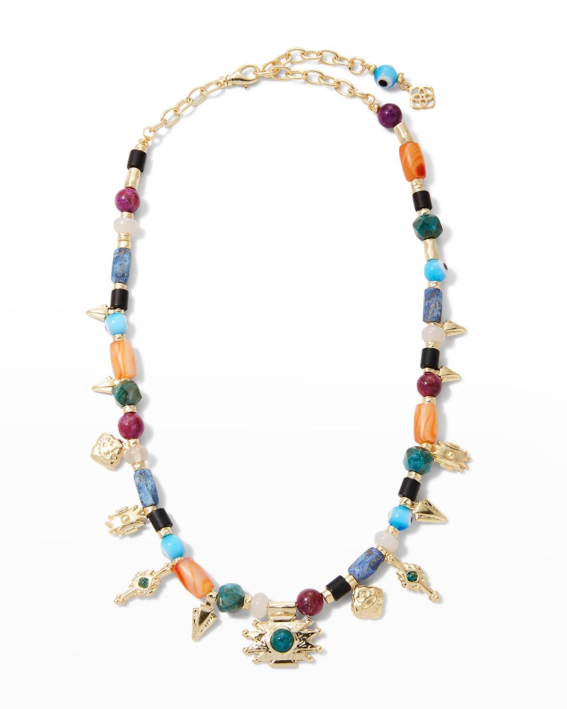 Beaded Shiva Charm Necklace