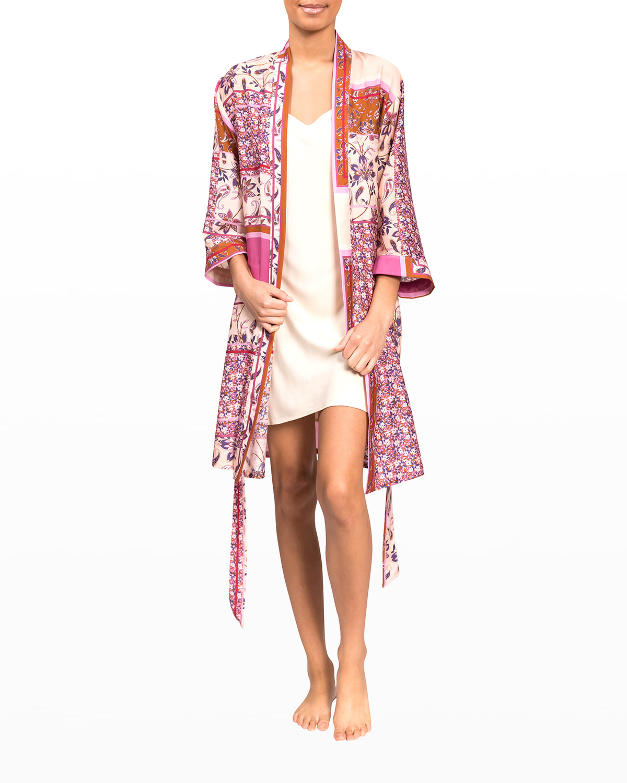 Misty Patchwork Short Robe