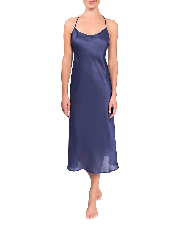 Sloan T-Back Satin Nightgown