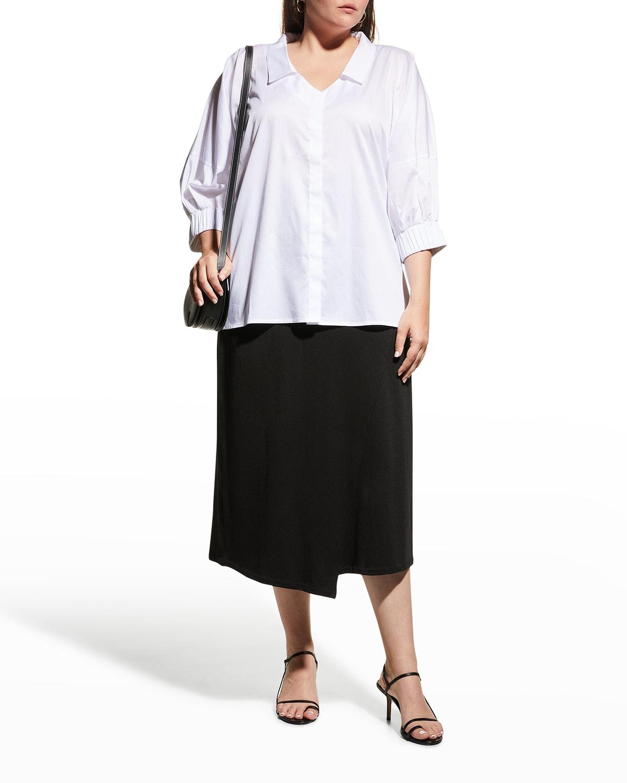 Plus Size Novia 3/4-Sleeve Blouse