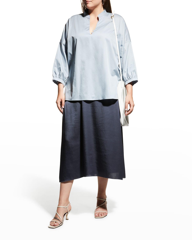 Plus Size Garbo Cotton Blouse