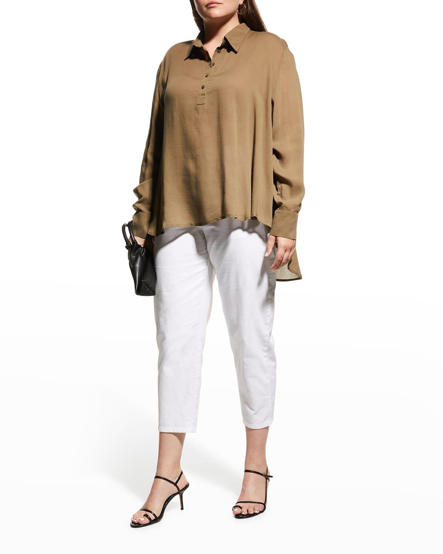 Plus Size Anais High-Low Twill Shirt