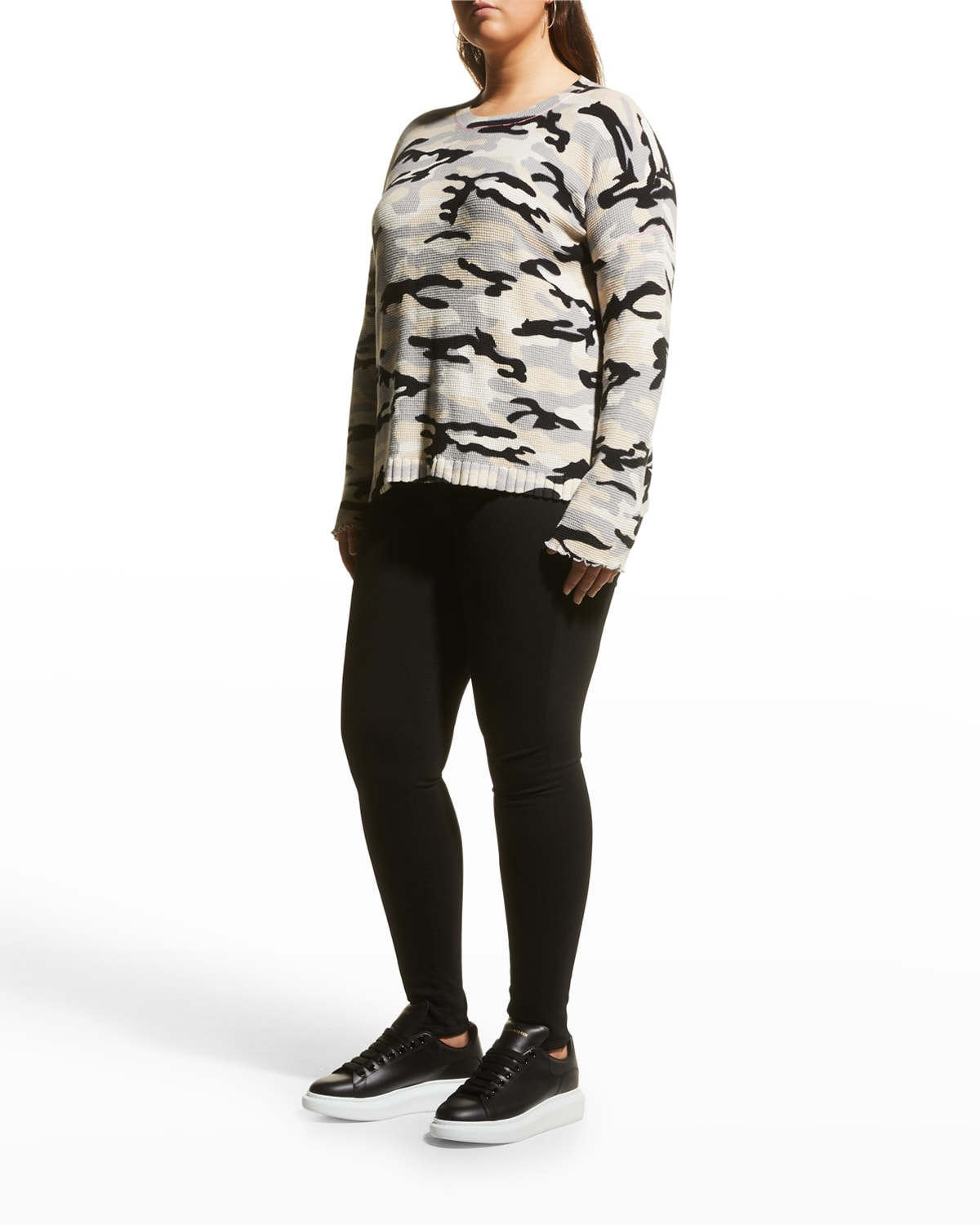 Plus Size Out of Sight Camo Sweater